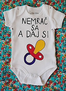 Detské oblečenie - Nemrač sa a daj si dudel ! - 10301247_