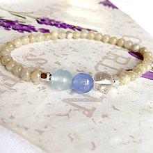 Náramky - Labradorite & Jade & Quartz Elastic Delicate Bracelet ag925 / Jemný náramok oválne perly a brúsený karneol /A0032 - 10300574_