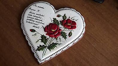 Dekorácie - Srdce s vlčimi makmi - 10300271_