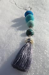 Náhrdelníky - Pre snehovú kráľovnu - 10301524_