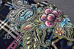 Šaty - maľované folk šaty  - 10302603_