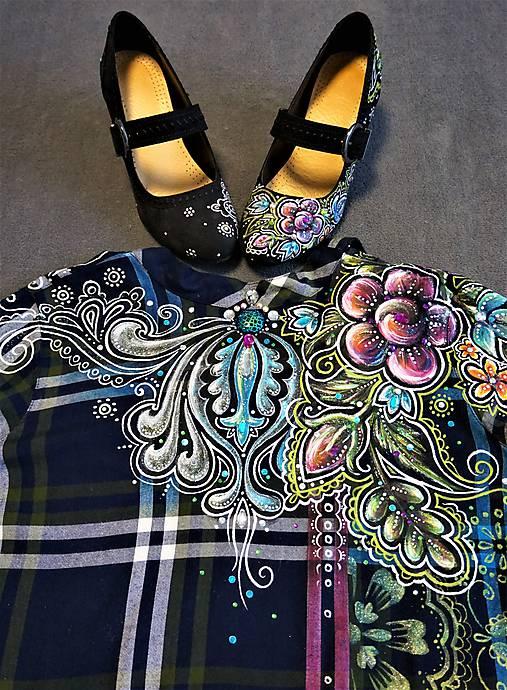 Maľované folk šaty   zeiko - SAShE.sk - Handmade Šaty 69295e66747