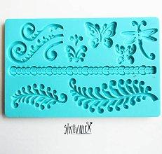Pomôcky/Nástroje - Silikónová  forma, ornament, motýľ, filigrán, 20x12,5 cm - 10300852_