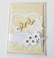 Papiernictvo - pohľadnica svadobná - 10300622_