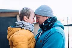 "Doplnky - Tunel na krk,""Wili""- Súprava otec a syn, OEKO-TEX® - 10302114_"