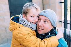 "Doplnky - Tunel na krk,""Wili""- Súprava otec a syn, OEKO-TEX® - 10302115_"