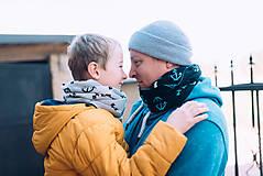 "Doplnky - Tunel na krk,""Wili""- Súprava otec a syn, OEKO-TEX® - 10302134_"