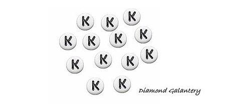 Korálky - Korálky okrúhle písmenká K - 10301477_