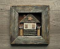 Obrazy - Malý domček - 10302410_