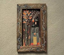 Obrazy - Dom v oranžovom háji - 10302429_
