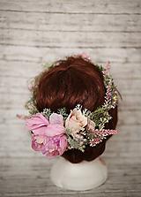 Ozdoby do vlasov - Kvetinový venček - 10300530_