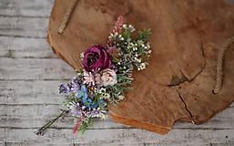 Ozdoby do vlasov - Veľký kvetinový polvenček - 10301821_
