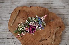 Ozdoby do vlasov - Veľký kvetinový polvenček - 10301823_