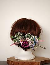 Ozdoby do vlasov - Veľký kvetinový polvenček - 10301824_