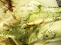 Šály - Píseň pampelišek /hedvábná šála 35 x 130 cm/ - 10300289_