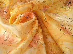 Šatky - Astry / hedvábný šátek 75 x 75 cm/ - 10300306_