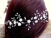 Ozdoby do vlasov - ozdoba do vlasov - venček, čelenka - snehobiele kvietky - 10302063_