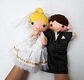 Hračky - Nevesta a ženích - sada maňušiek na želanie - 10302780_