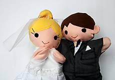 Hračky - Nevesta a ženích - sada maňušiek na želanie - 10302795_