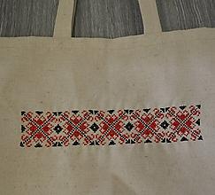 Iné tašky - Plátená taška s ručnou výšivkou - 10300426_
