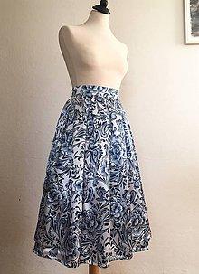 Sukne - sukňa Modrotlač naopak - 10302634_