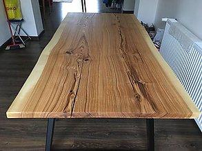 Nábytok - Jaseňový stôl v štýle Live edge - 10300822_