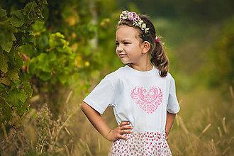 Tričká - Tričko folk - detské ružové - 10300733_