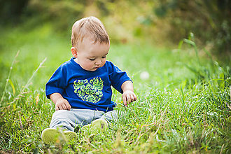 Tričká - Detské folk tričko - srdce - 10302018_