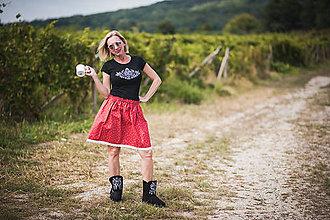 Tričká - Dámske tričko folk - tulipán - 10302566_