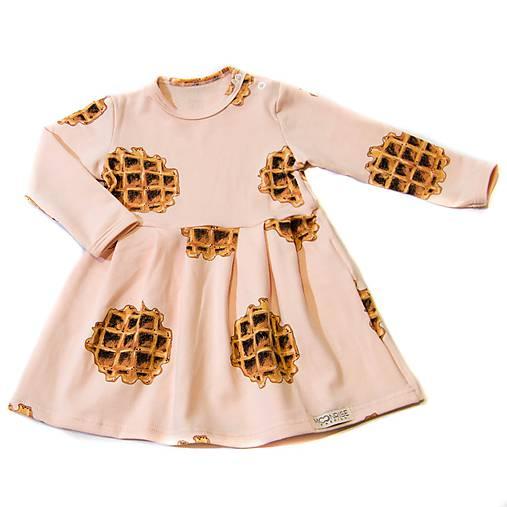 Detské oblečenie - Šaty - ružové wafle - 10300483_