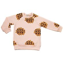 Detské oblečenie - Detská mikina - waffle pink - 10300520_