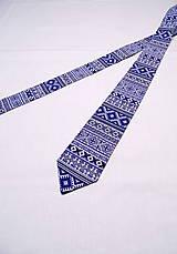 Pánska kravata FOLK v modrom