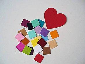 Papier - 1 srdce + 22 štvorčekov - 10301385_