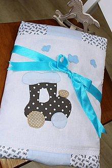 Textil - Detská deka... vláčik... - 10301074_