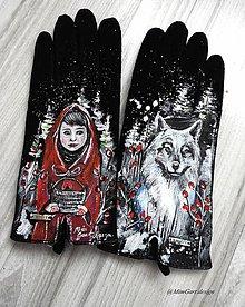 Rukavice - červená čiapočka a vlk - 10302520_