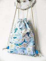 Detské tašky - Detský batoh Veľryby, 6-12 rokov  - 10301479_