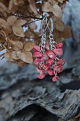 Náušnice - Náušnice zlomkové ružové - 10302568_