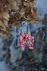 Náušnice - Náušnice zlomkové ružové - 10302573_