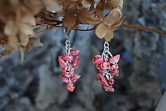 Náušnice - Náušnice zlomkové ružové - 10302577_