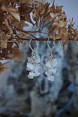 Náušnice - Náušnice zlomkové biele - 10302631_