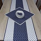 Úžitkový textil - Kuchyňa v modrom - obrúsok štvorec 40x40 - 10299873_