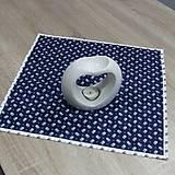 Úžitkový textil - Kuchyňa v modrom - obrúsok štvorec 40x40 - 10299875_