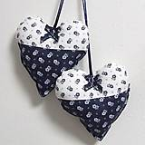 Úžitkový textil - Kuchyňa v modrom - srdiečko 13x13 - 10299994_