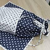 Úžitkový textil - Kuchyňa v modrom - vrecko na chlieb - 10300200_
