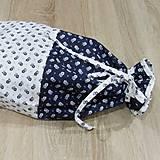 Úžitkový textil - Kuchyňa v modrom - vrecko na chlieb - 10300201_
