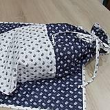 Úžitkový textil - Kuchyňa v modrom - vrecko na chlieb - 10300202_