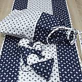 Úžitkový textil - Kuchyňa v modrom - vrecko na chlieb - 10300203_