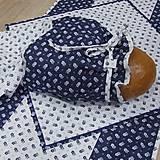 Úžitkový textil - Kuchyňa v modrom - vrecko na chlieb - 10300204_