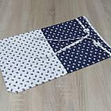Úžitkový textil - Kuchyňa v modrom - vrecko na chlieb - 10300205_