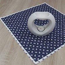 Úžitkový textil - Kuchyňa v modrom - obrúsok štvorec 40x40 - 10299874_